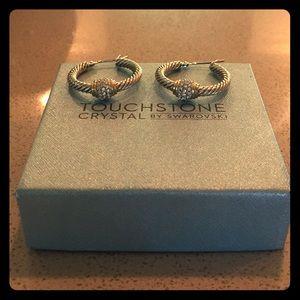 Touchstone Crystal by Swarovski Hoop Earrings